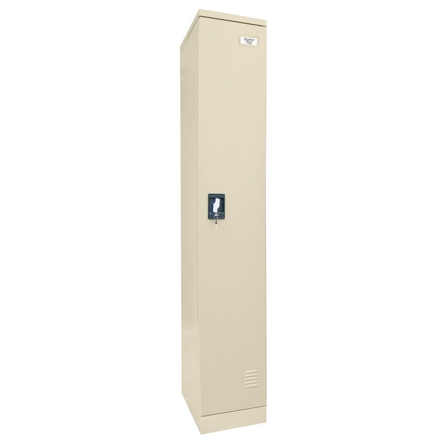 edsal 12-in W x 72-in H x 18-in D Putty Steel Storage Locker