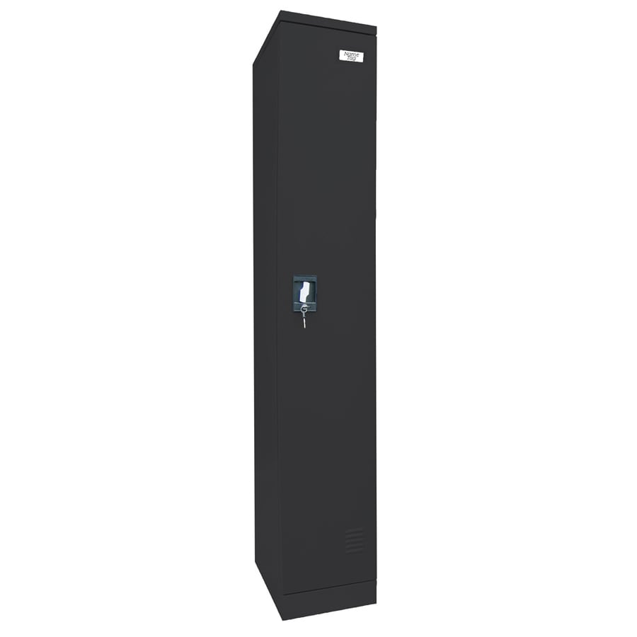edsal 12-in W x 72-in H x 18-in D Black Steel Storage Locker