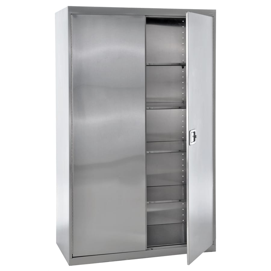 Shop Edsal 48 In W X 78 In H X 24 In D Steel Freestanding Garage Cabinet At Lowes Com