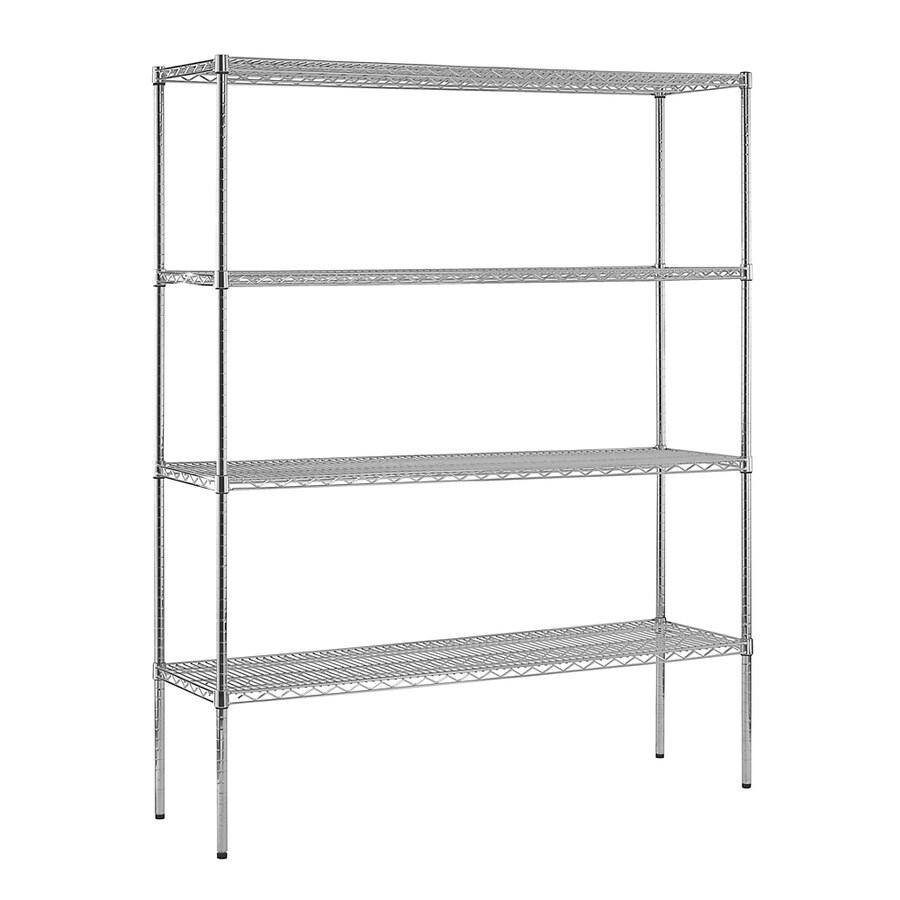 edsal 74-in H x 60-in W x 18-in D 4-Tier Wire Freestanding Shelving Unit