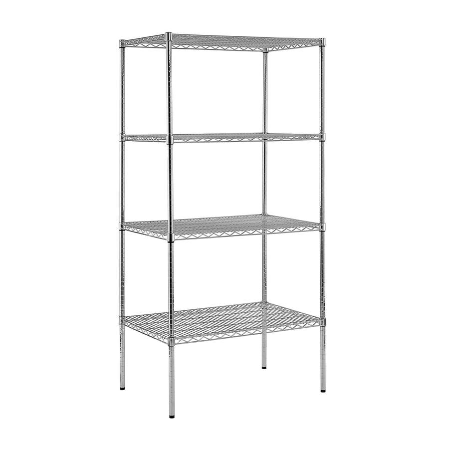 edsal 74-in H x 36-in W x 24-in D 4-Tier Wire Freestanding Shelving Unit
