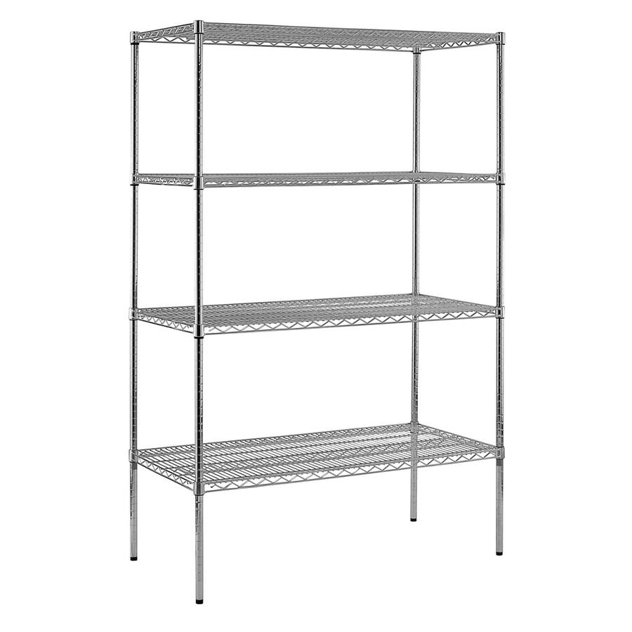 edsal 74-in H x 48-in W x 24-in D 4-Tier Wire Freestanding Shelving Unit