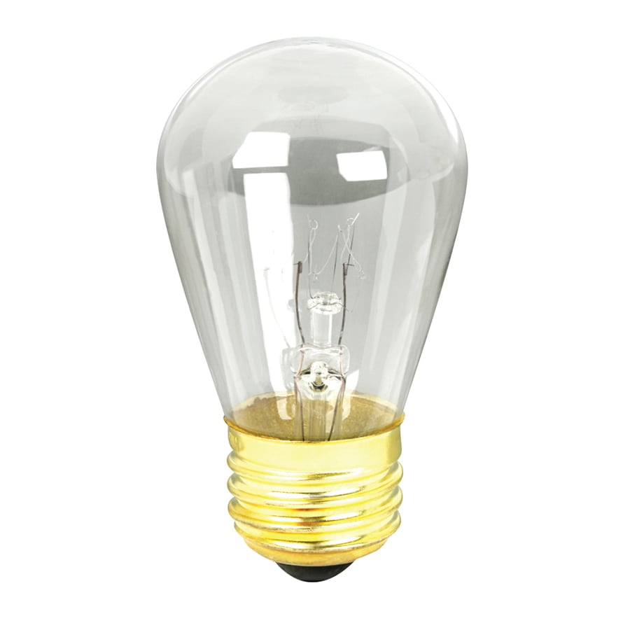 Shop feit electric 11 watt s medium base e 26 clear incandescent sign light bulb at Light bulb wattage