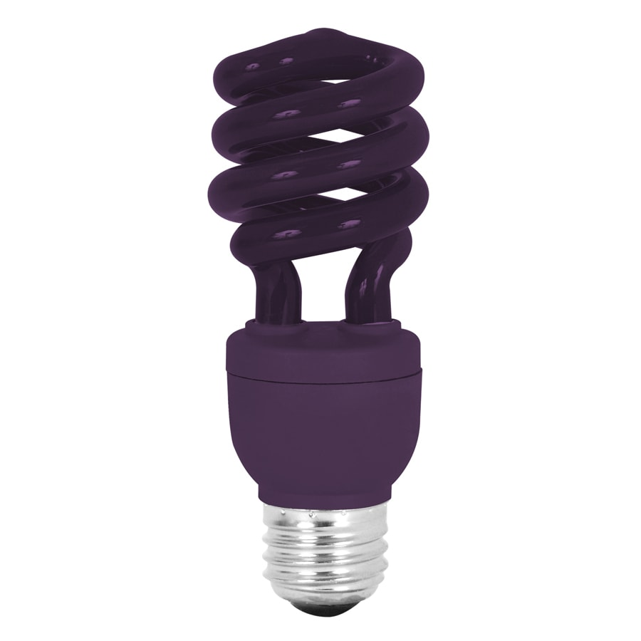 Mood-lites 13-Watt (60W Equivalent) Spiral Medium Base Purple (3000K) CFL Bulb