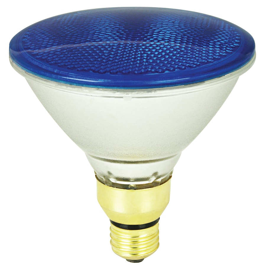 Shop mood lites 90 watt par38 medium base e 26 blue for Where to buy halogen bulbs