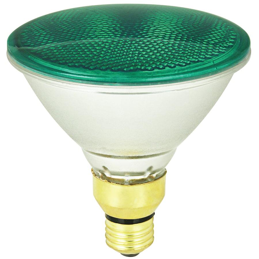 Mood-lites 90-Watt PAR38 Medium Base Green Outdoor Halogen Flood Light Bulb