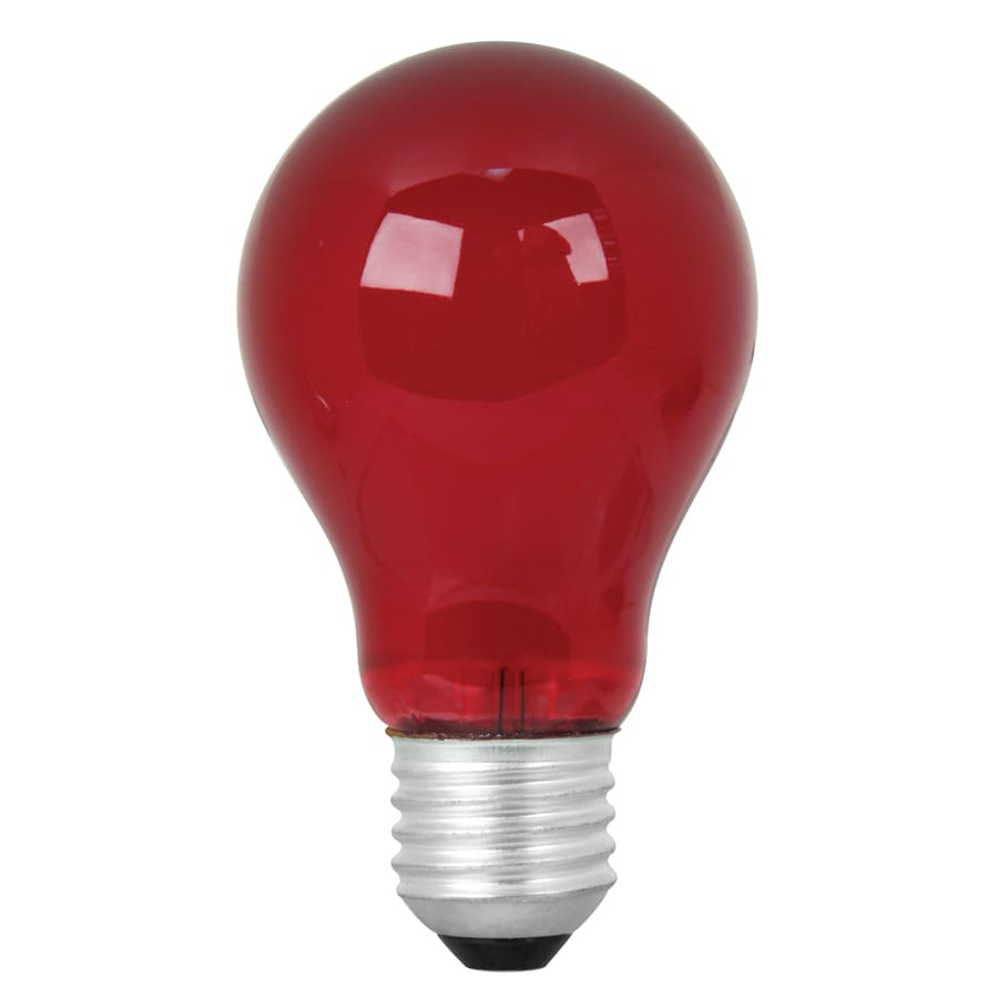 Shop Mood-lites 25-Watt Medium Base (E-26) Red Decorative Incandescent Light Bulb at Lowes.com