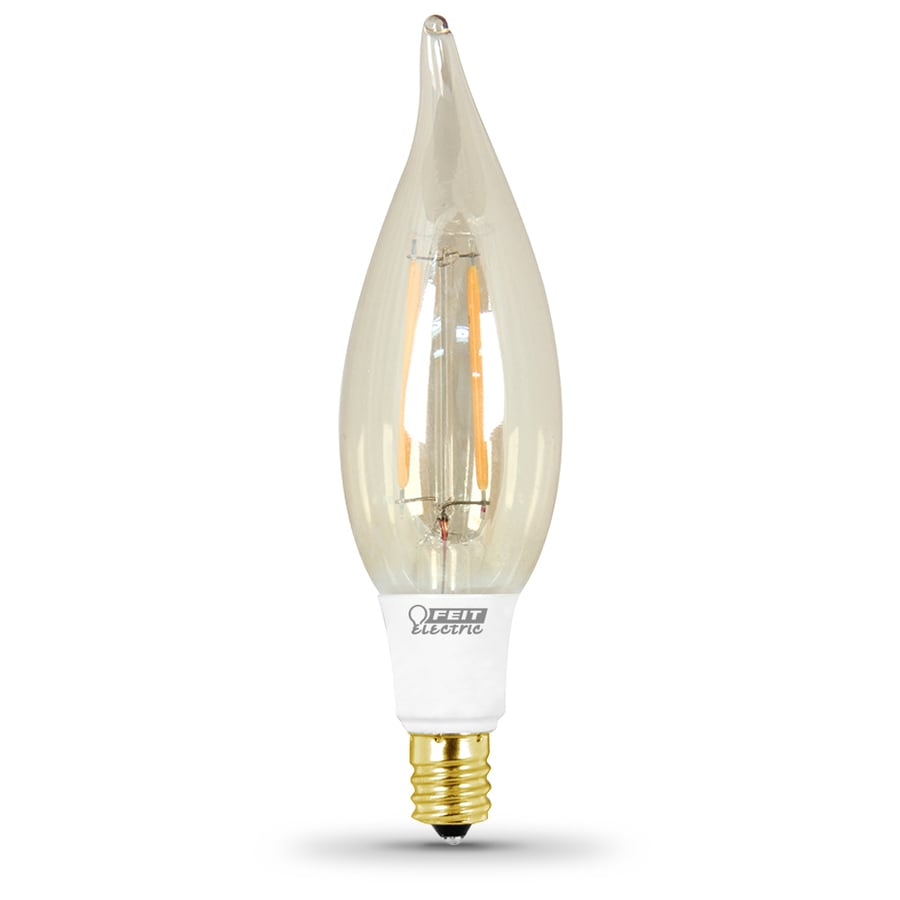 Feit Electric 2.5-Watt (40W Equivalent) 2,200K Candelabra Base (E-12) Soft White Dimmable Decorative LED Light Bulb