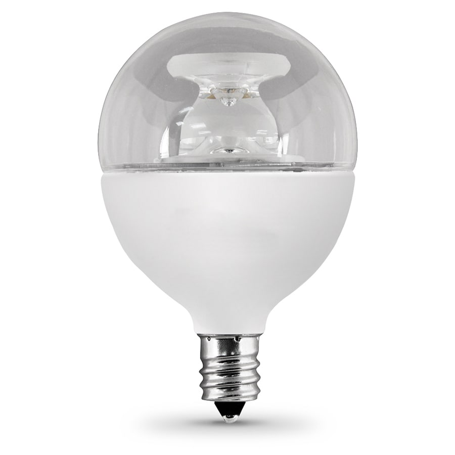 Feit Electric 7.5-Watt (60W Equivalent) 3000K Candelabra Base (E-12) Warm White Dimmable Decorative LED Light Bulb