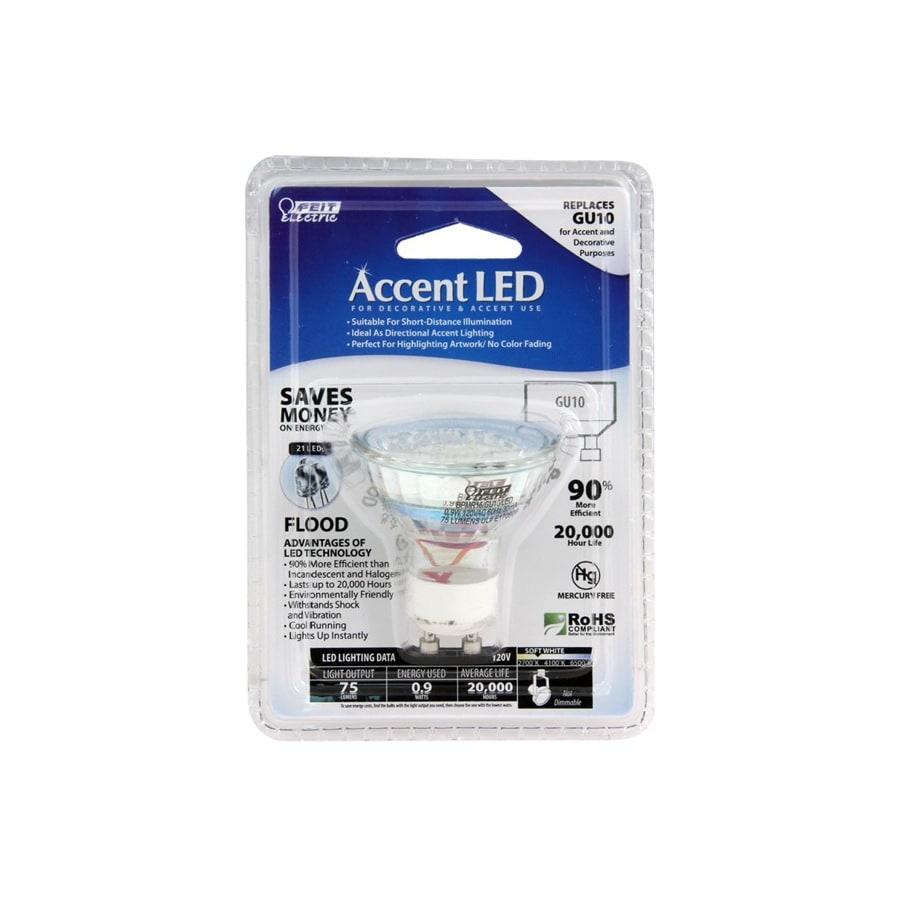 Feit Electric 0.9-Watt MR16 Soft White Indoor LED Flood Light Bulb
