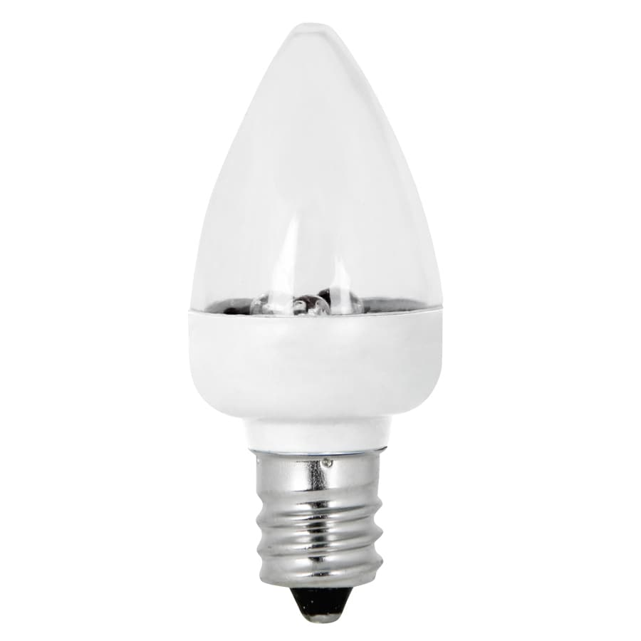 Feit Electric 2 -Pack 1-Watt (0 W Equivalent) Bulb Shape Candelabra Base (E-12) Base Bright White (3500 Kelvins K) For Indoor Or Enclosed Outdoor Use Only Decorative LED Light Bulb