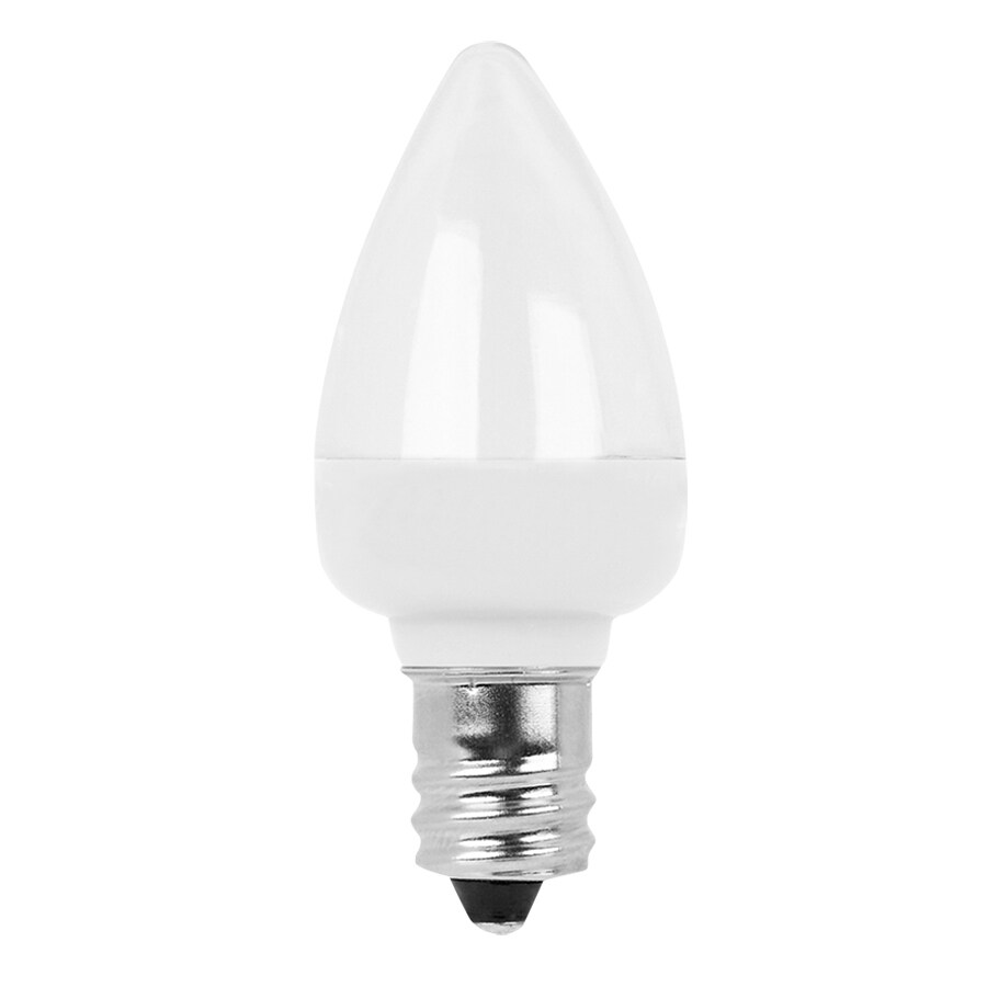 Shop Utilitech Pro 2 Pack 0 6 Watt 3 500k Candelabra Base E 12 Bright White Decorative Led