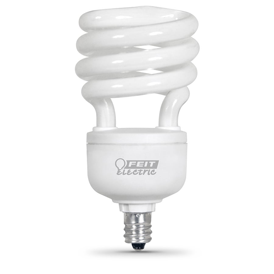 Utilitech 4-Pack 13-Watt (60W Equivalent) 5,000K Spiral Candelabra Base (E-12) Daylight CFL Bulb