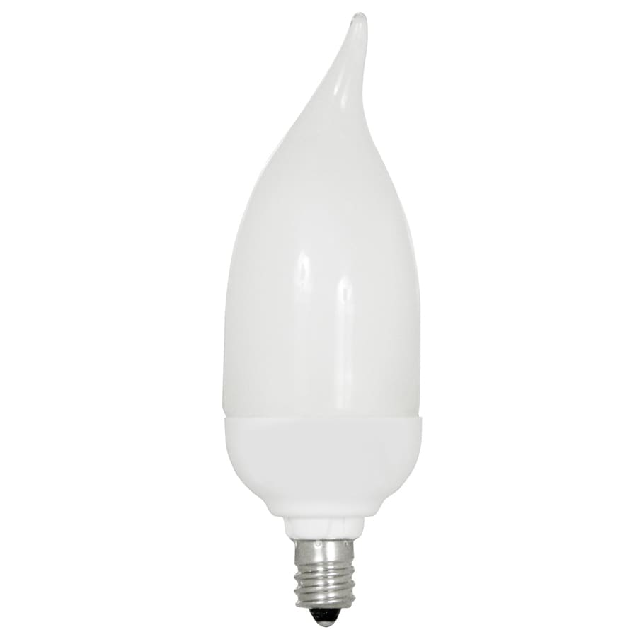 Utilitech 7-Watt (40W) Candelabra Base Daylight (5000K) Decorative CFL Bulb