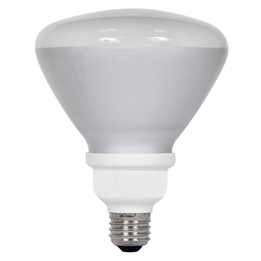 Utilitech 18-Watt (75W) BR40 Medium Base Daylight (5000K) CFL Bulb
