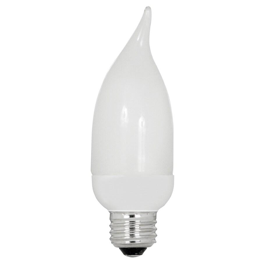 Utilitech 2-Pack 7-Watt (40W Equivalent) 2,700K Medium (E-26) Base Soft White Decorative CFL Bulbs ENERGY STAR