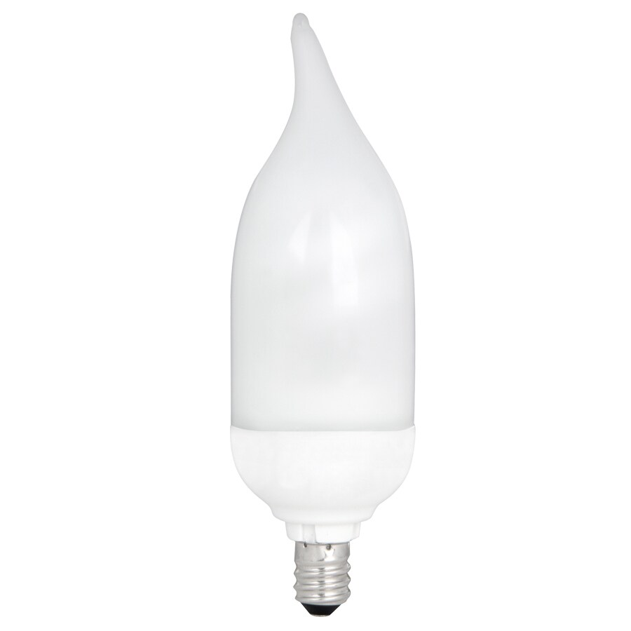 Utilitech 7-Watt (40W) Candelabra Base Bright White (3500K) Decorative CFL Bulb ENERGY STAR