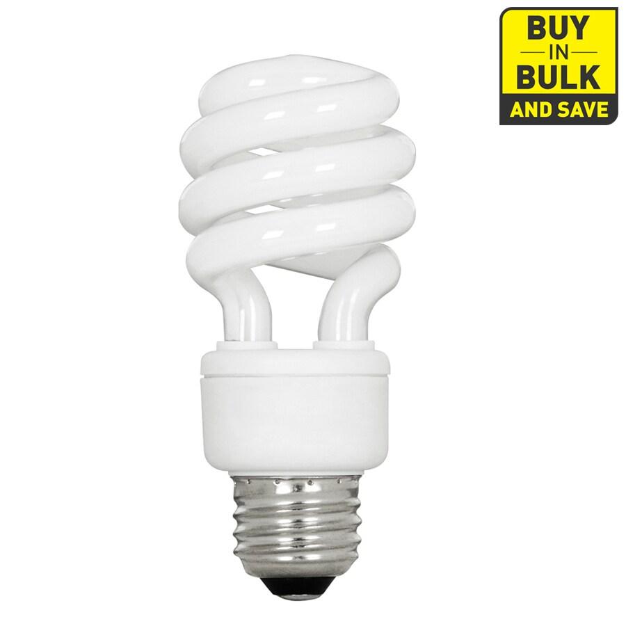 Utilitech 4-Pack 13-Watt (60W Equivalent) Spiral Medium Base Bright White (3500K) CFL Bulbs ENERGY STAR