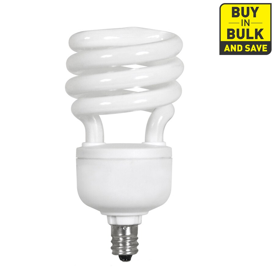 Utilitech 4-Pack 13-Watt (60W) Candelabra Base Soft White (2700K) Decorative CFL Bulbs ENERGY STAR