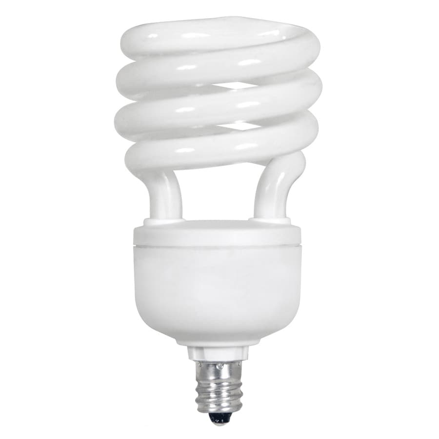 Utilitech 4-Pack 13-Watt (60W Equivalent) 3,500K Spiral Candelabra Base (E-12) Bright White CFL Bulb