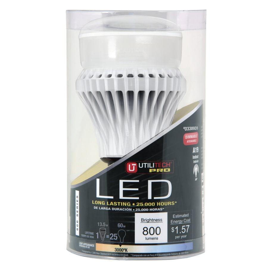 Utilitech 13.5-Watt (60 W Equivalent) Warm White (3000 K) Decorative LED Bulb ENERGY STAR