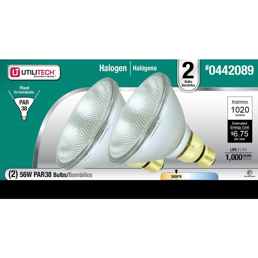 Utilitech 2-Pack 55-Watt Medium Base (E-26) Soft White Dimmable Decorative Halogen Light Bulbs