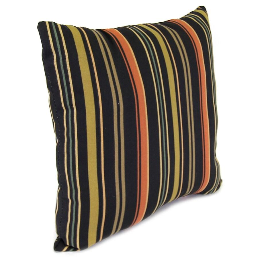 Jordan Manufacturing 16-in W x 16-in L Jolene Stripe Lava Square Indoor Decorative Complete Pillow