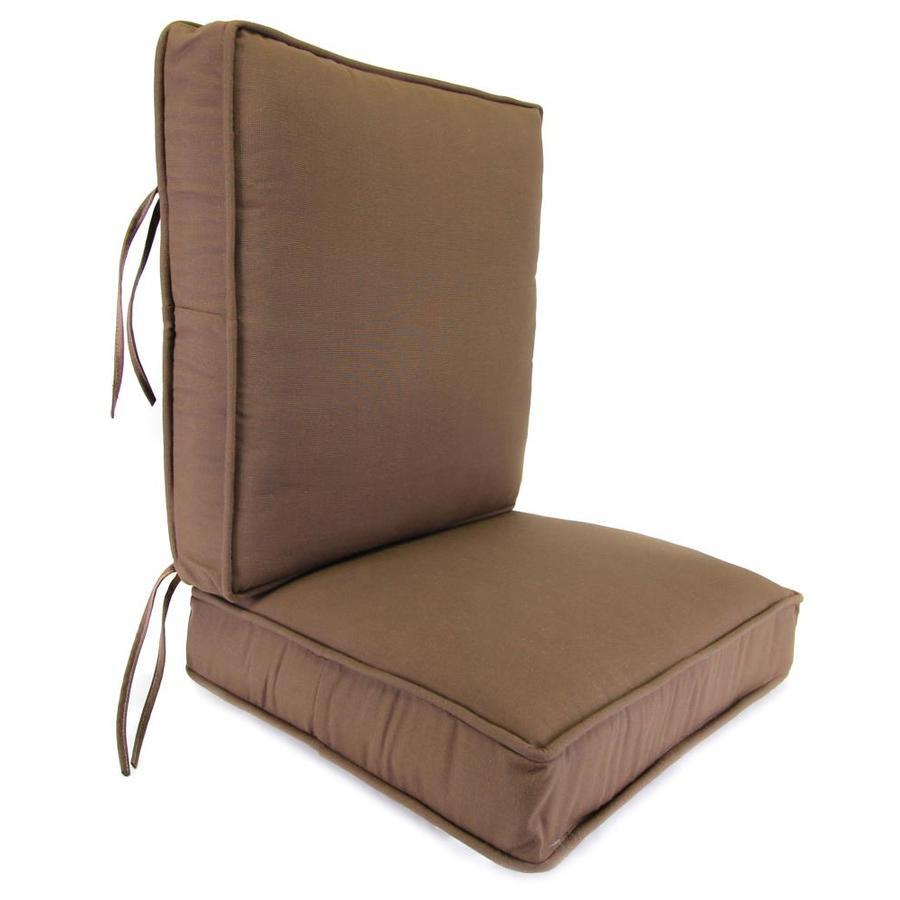 Jordan Manufacturing Sparkle Coffee Texture Cushion For Deep Seat Chair