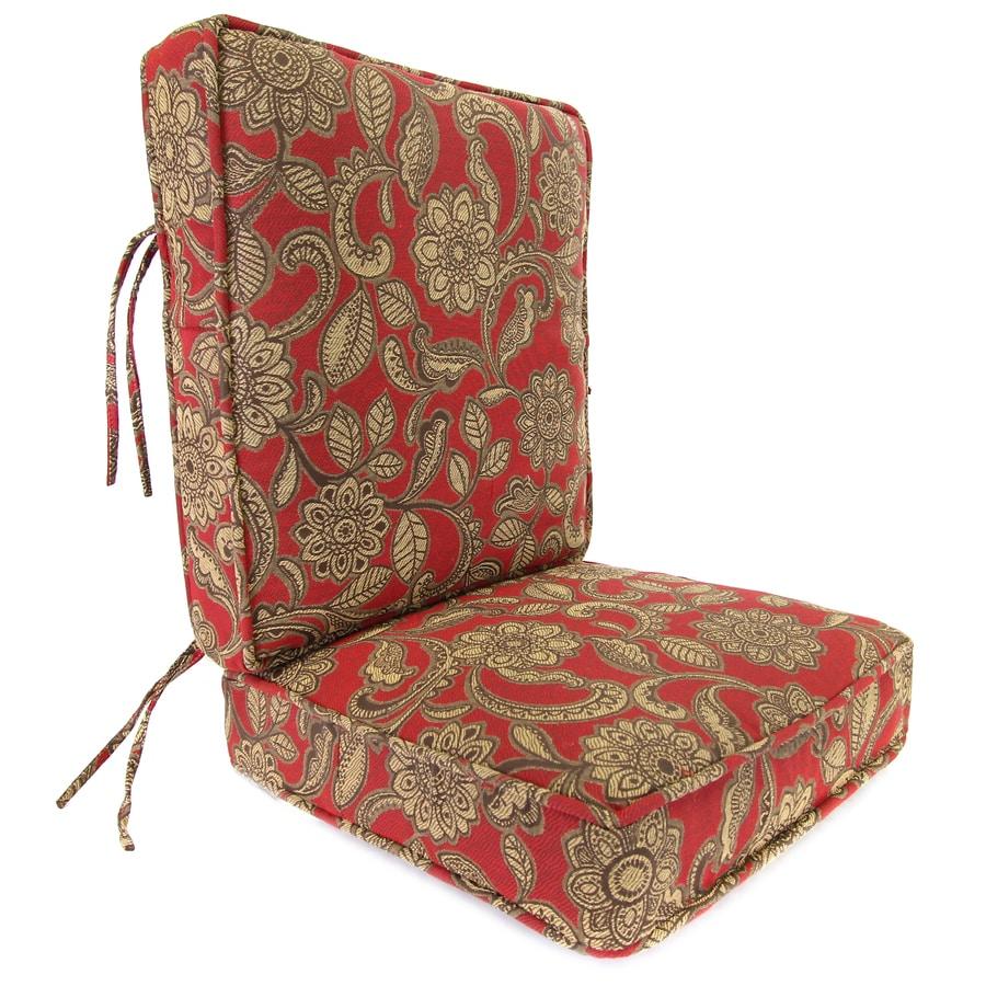 Jordan Manufacturing Veranda Crimson Paisley Cushion For Deep Seat Chair