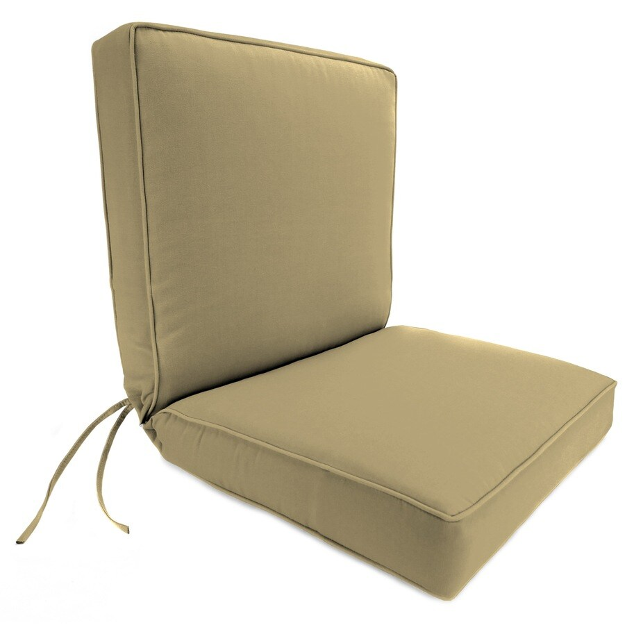 Shop Jordan Manufacturing Canvas Heather Beige Solid Cushion For Deep Seat Chair At