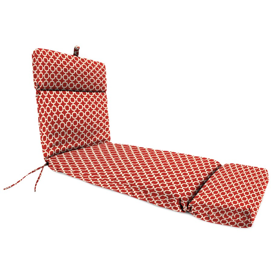 Jordan Manufacturing Hockley Red Geometric Cushion For Chaise Lounge