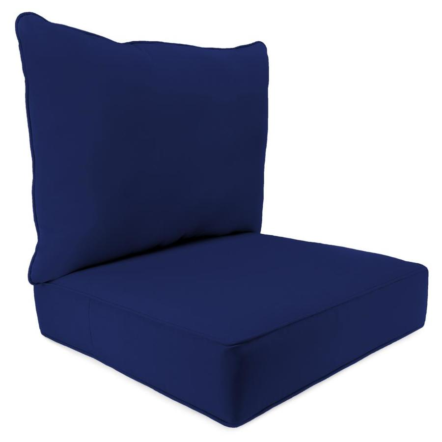 Jordan Manufacturing Fresco Navy Solid Cushion For Deep Seat Chair