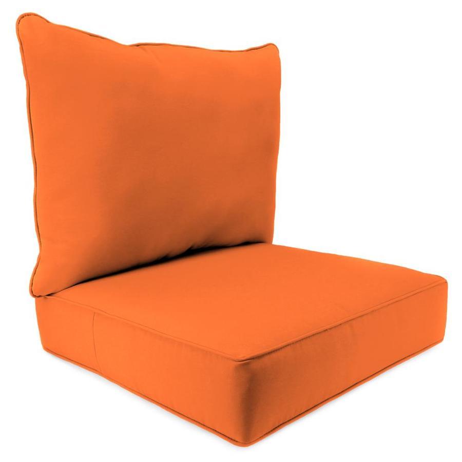 Jordan Manufacturing Fresco Mandarin Solid Cushion For Deep Seat Chair