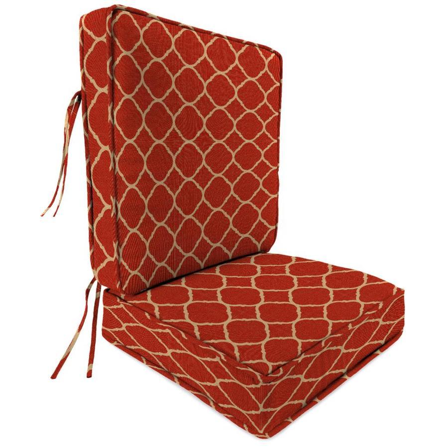 Jordan Manufacturing Accord Crimson Geometric Cushion For Deep Seat Chair