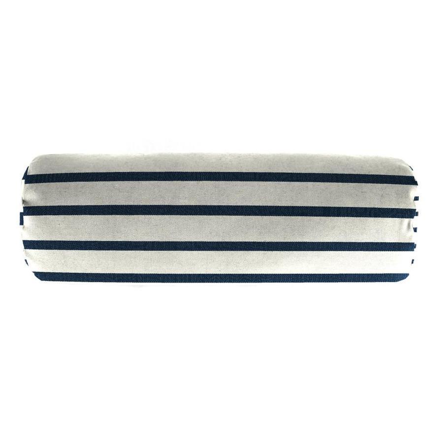 Sunbrella Lido Indigo Stripe Rectangular Outdoor Decorative Pillow