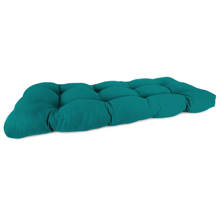 Sunbrella Dupione Deep Sea Solid Cushion For Loveseat
