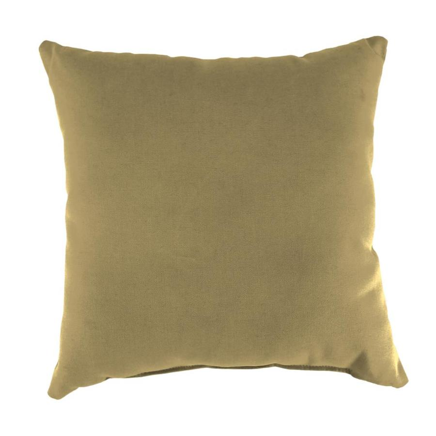 Sunbrella 2-Pack Sailcloth Sisal Solid Square Outdoor Decorative Pillow