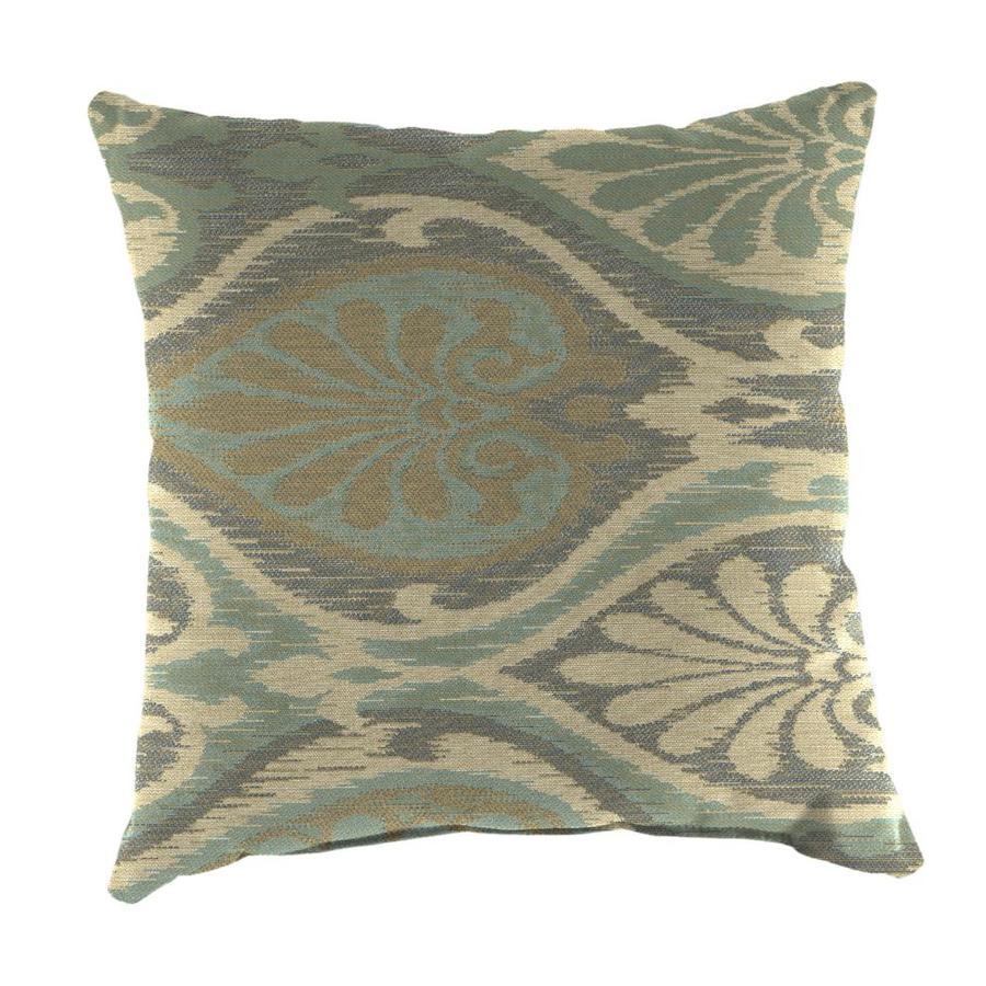 Sunbrella 2-Pack Aura Seaglass Paisley Square Outdoor Decorative Pillow