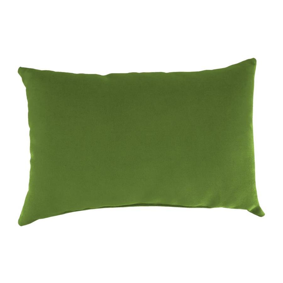 Sunbrella 2-Pack Spectrum Cilantro Solid Rectangular Outdoor Decorative Pillow