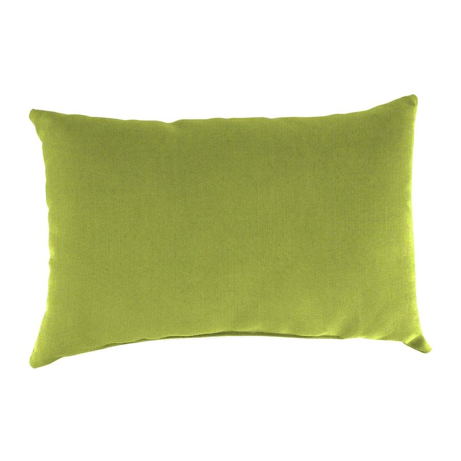 Sunbrella 2-Pack Spectrum Kiwi Solid Rectangular Outdoor Decorative Pillow