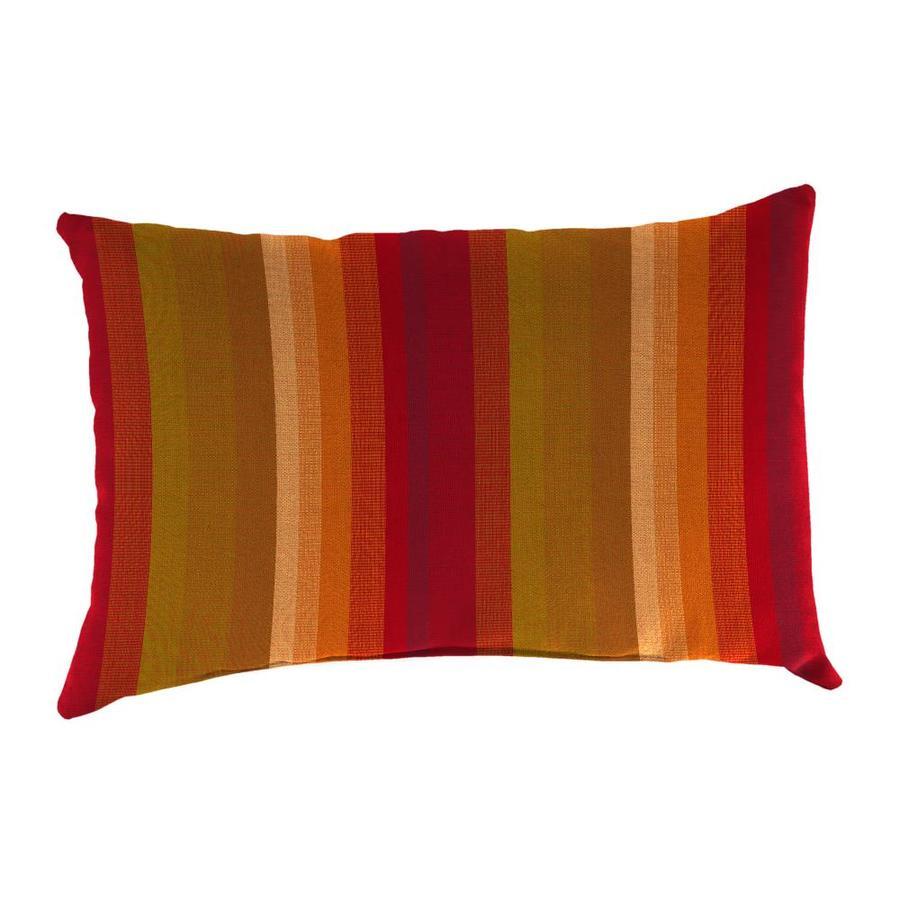 Sunbrella 2-Pack Astoria Sunset Stripe Rectangular Outdoor Decorative Pillow