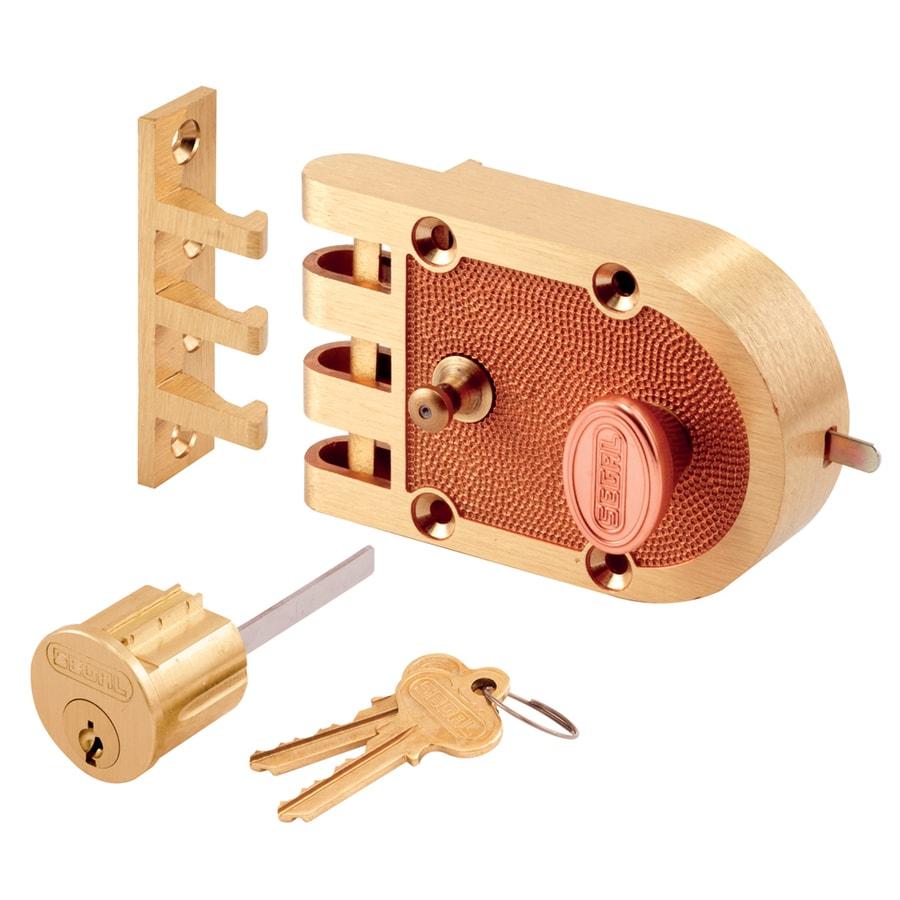 Prime-Line Segal Brass Single-Cylinder Deadbolt
