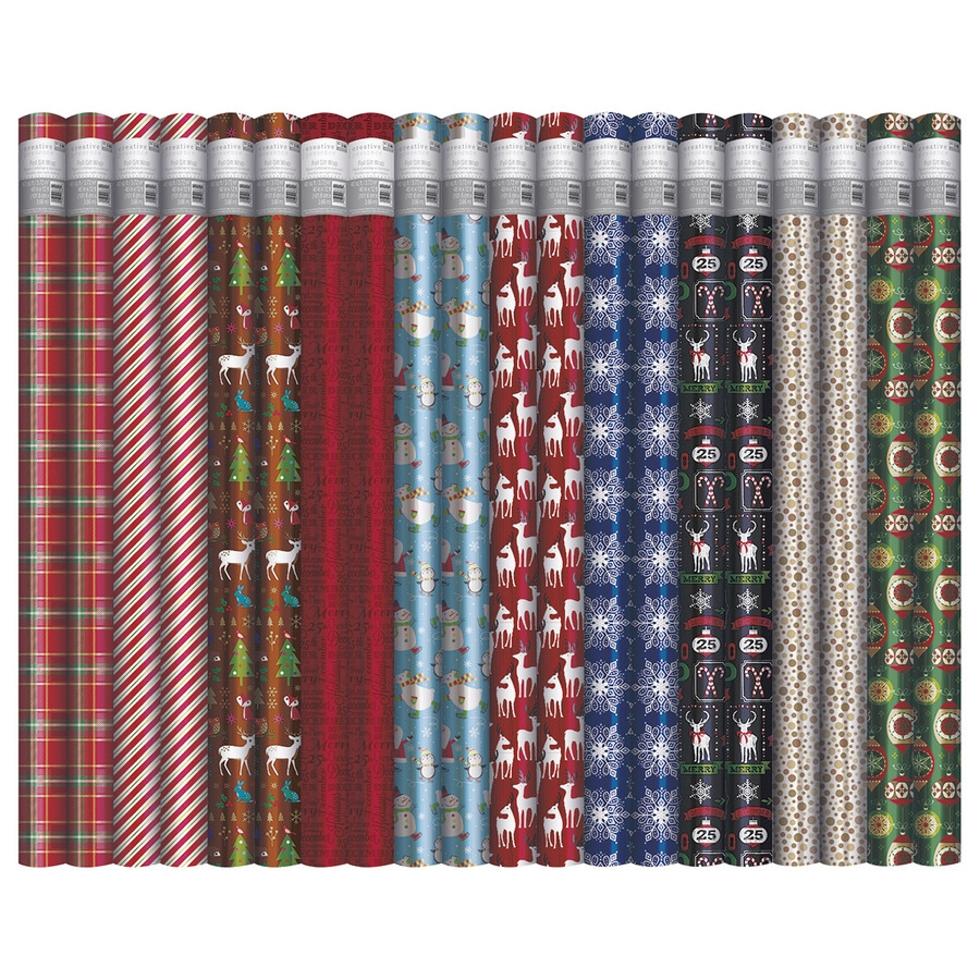 Creative Presence Assorted 3.33-ft x 12-ft Christmas Wrapping Paper