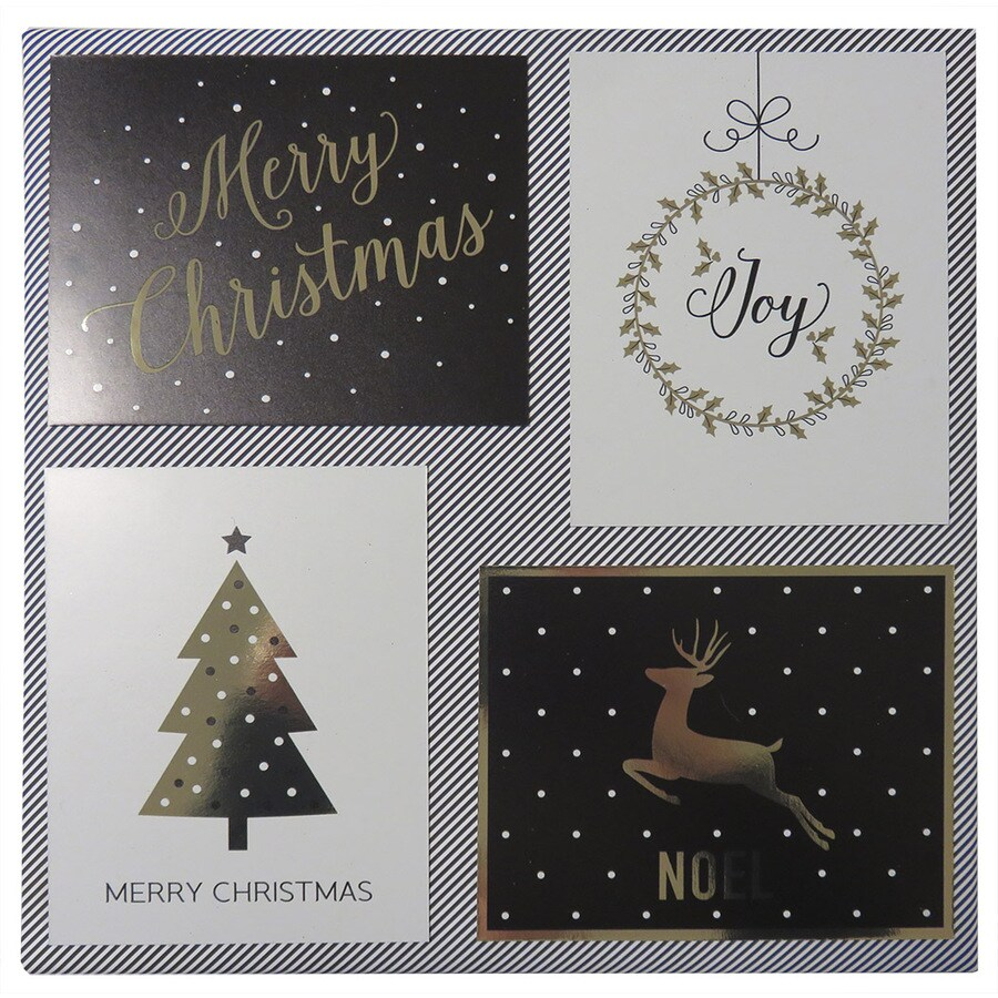allen + roth 16-Pack Christmas Greeting Cards with Envelopes