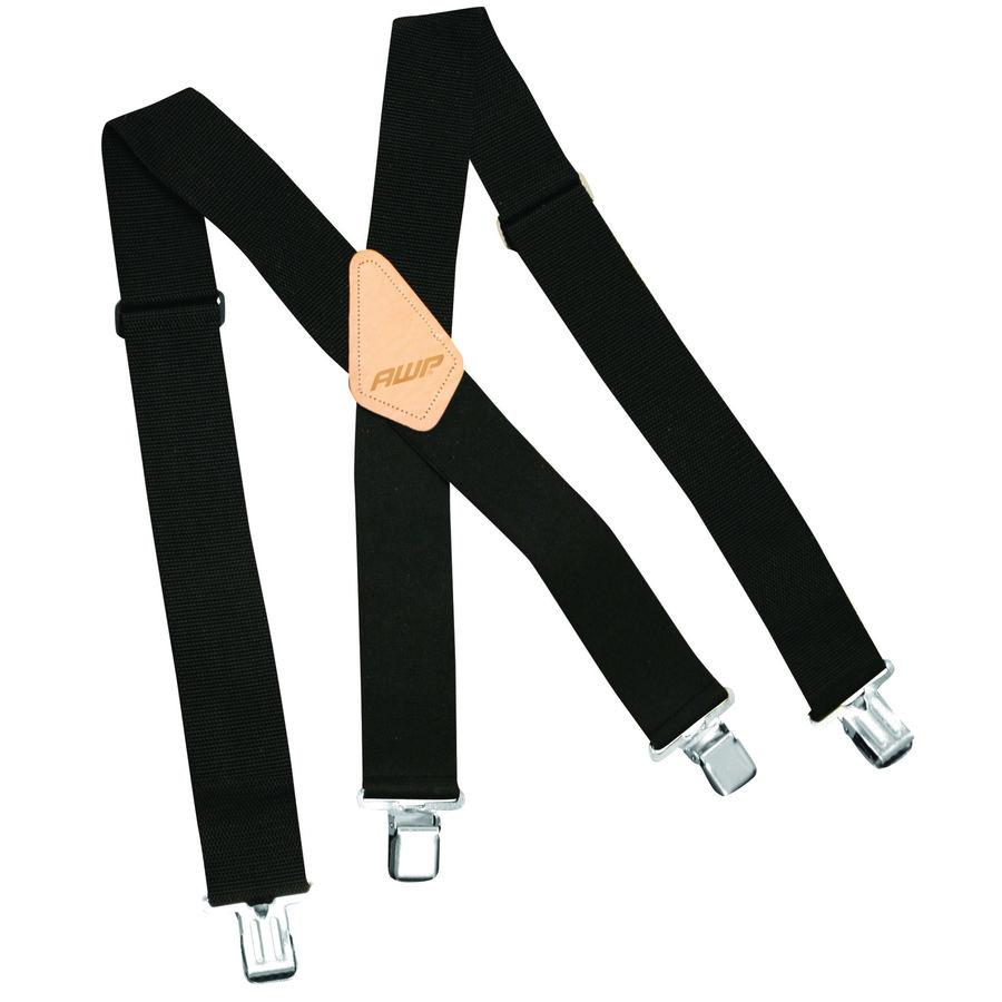 AWP Black Polyester Suspenders