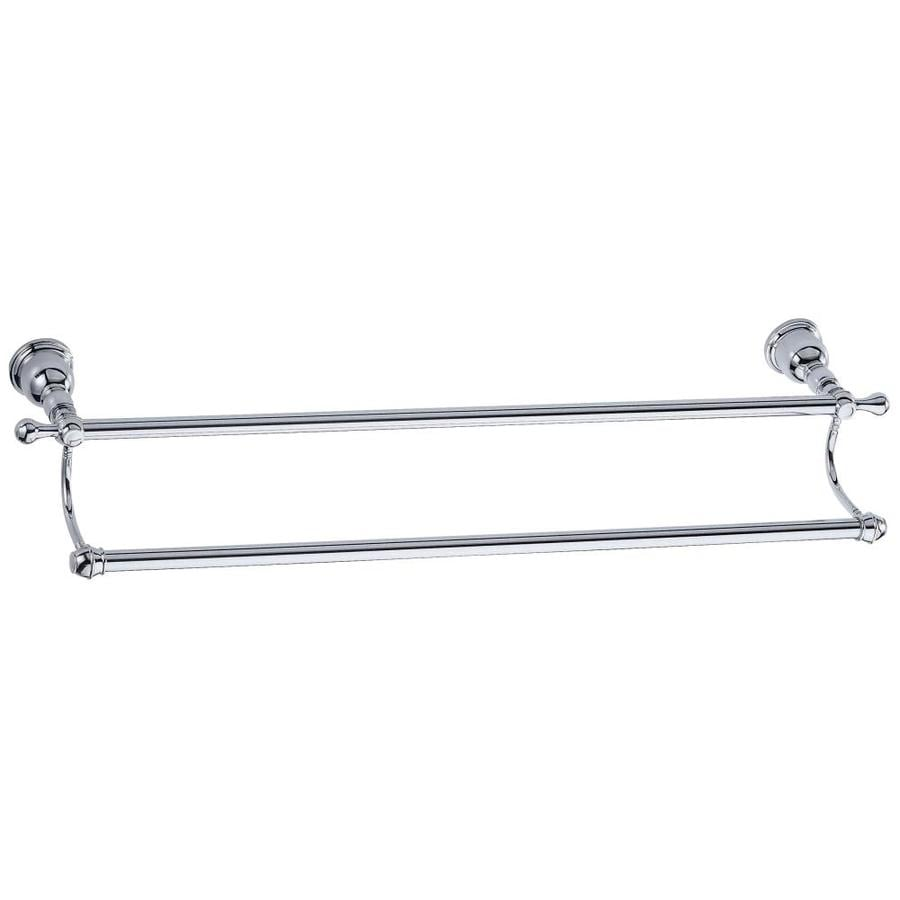 Danze Opulence Chrome Double Towel Bar (Common: 24-in; Actual: 27.375-in)