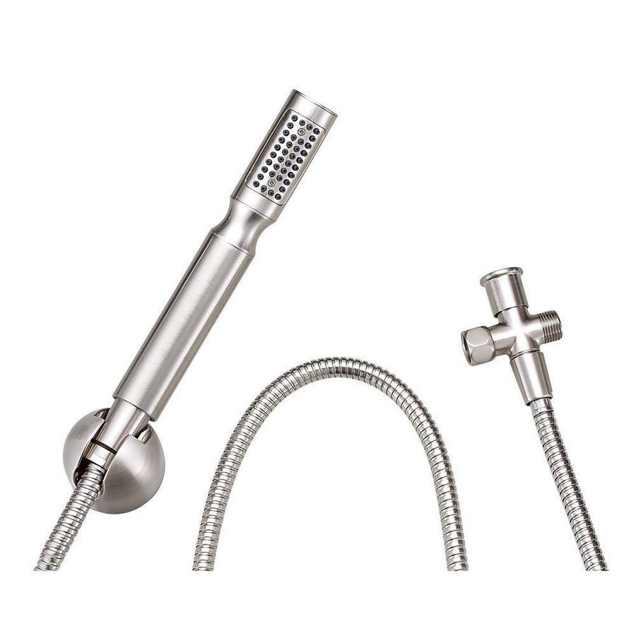 Danze Showerstick 3-in 2.5-GPM (9.5-LPM) Brushed Nickel 1-Spray Hand Shower