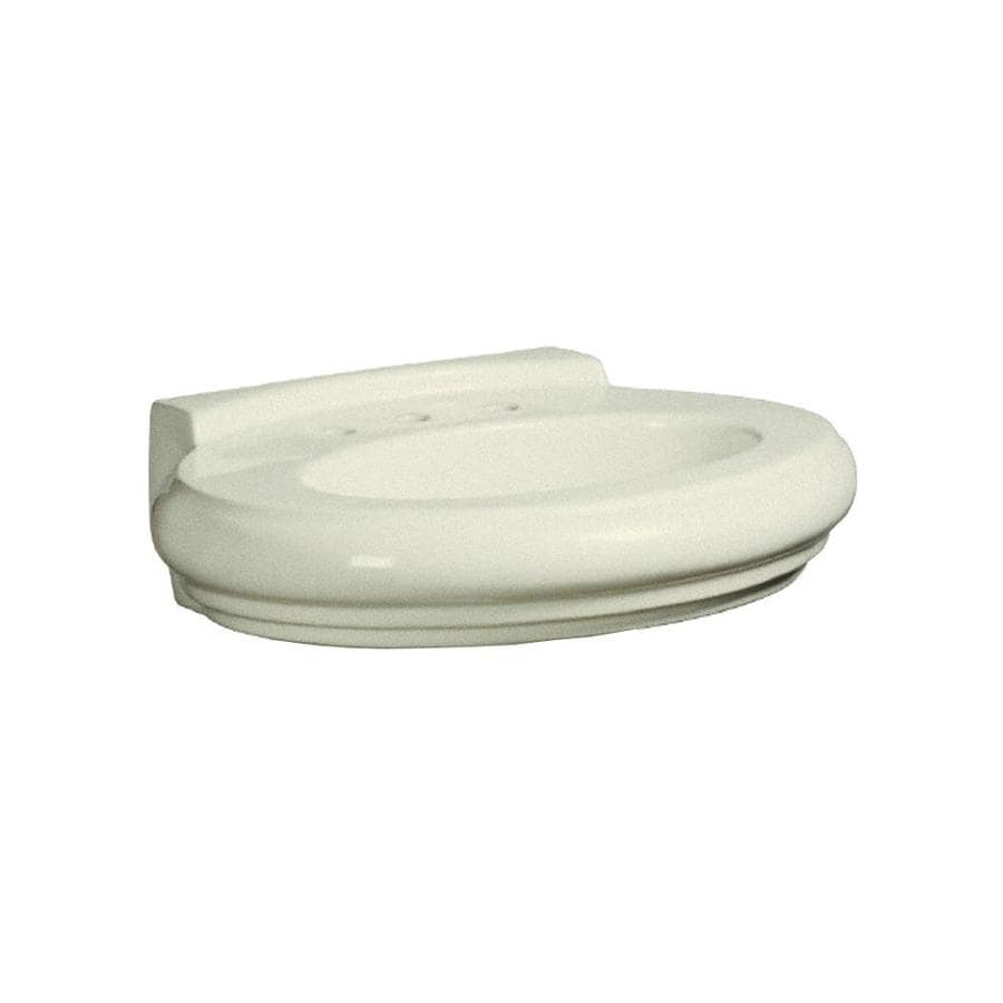 Oval Pedestal Sink : ... 30.875-in L x 23.03-in W Biscuit Vitreous China Oval Pedestal Sink Top