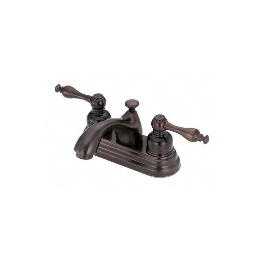 Danze Sheridan Oil-Rubbed Bronze 2-Handle 4-in Centerset WaterSense Bathroom Faucet (Drain Included)