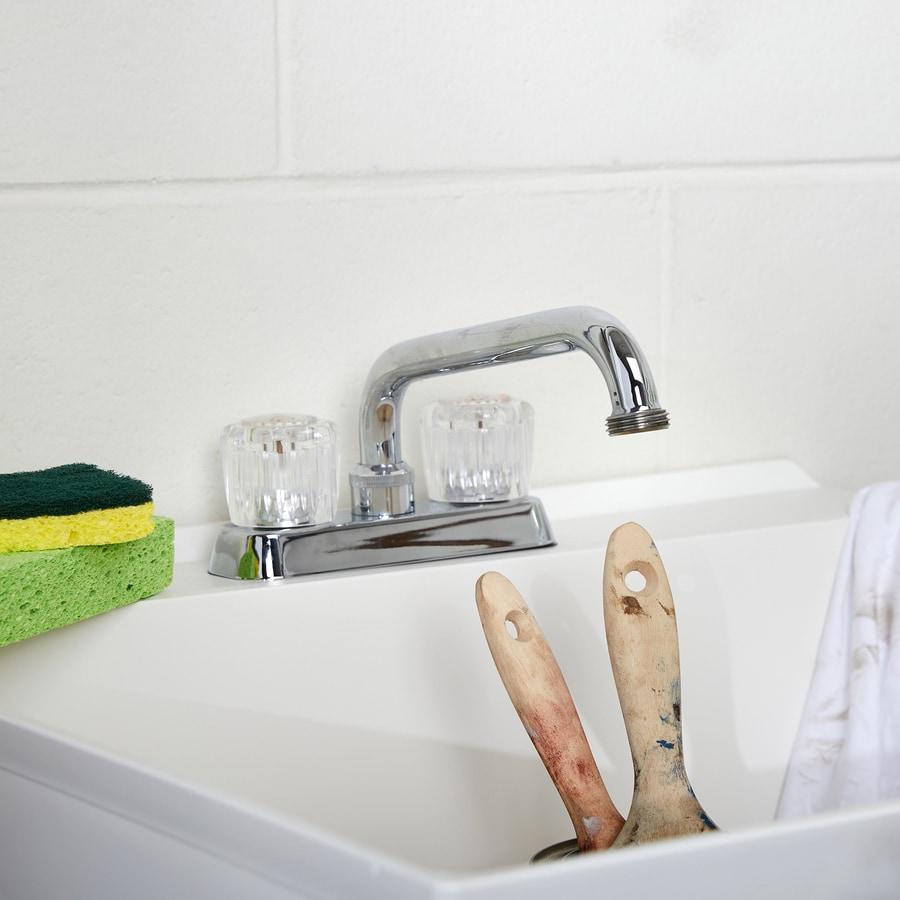 Project Source Chrome 2-Handle Utility Faucet